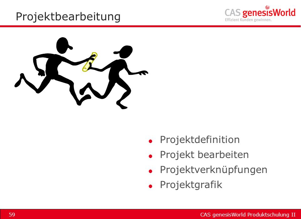 Projektbearbeitung Projektdefinition Projekt bearbeiten