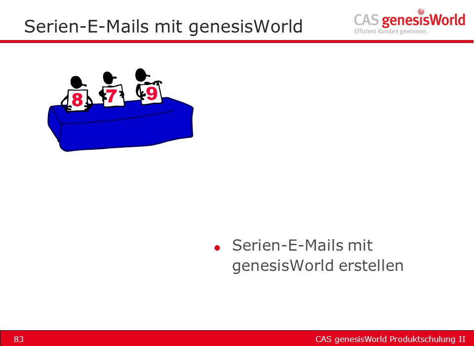 Serien-E-Mails mit genesisWorld