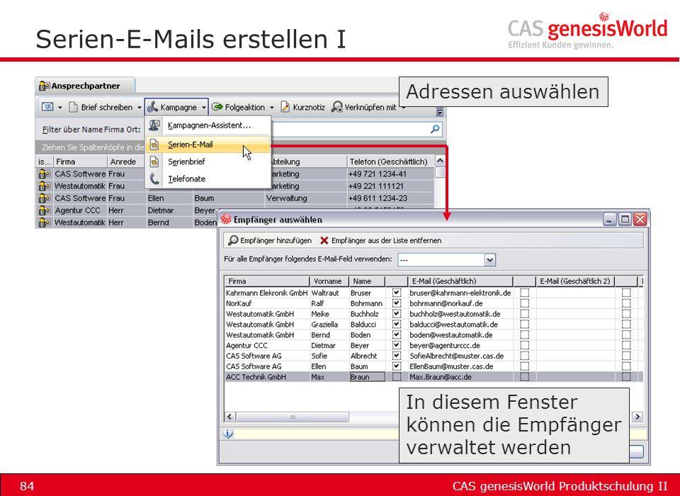Serien-E-Mails erstellen I