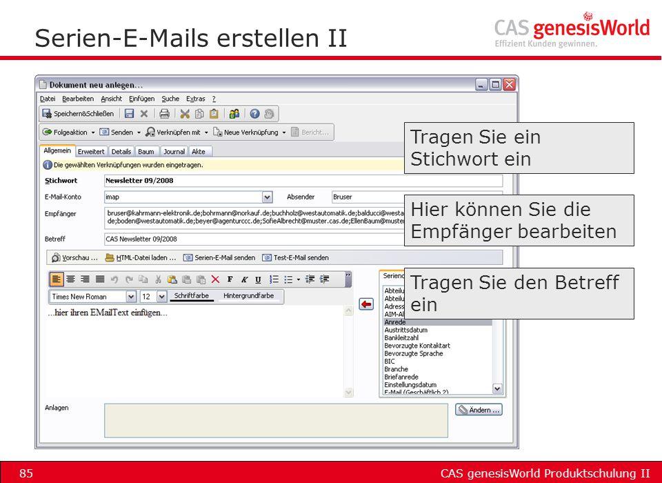 Serien-E-Mails erstellen II