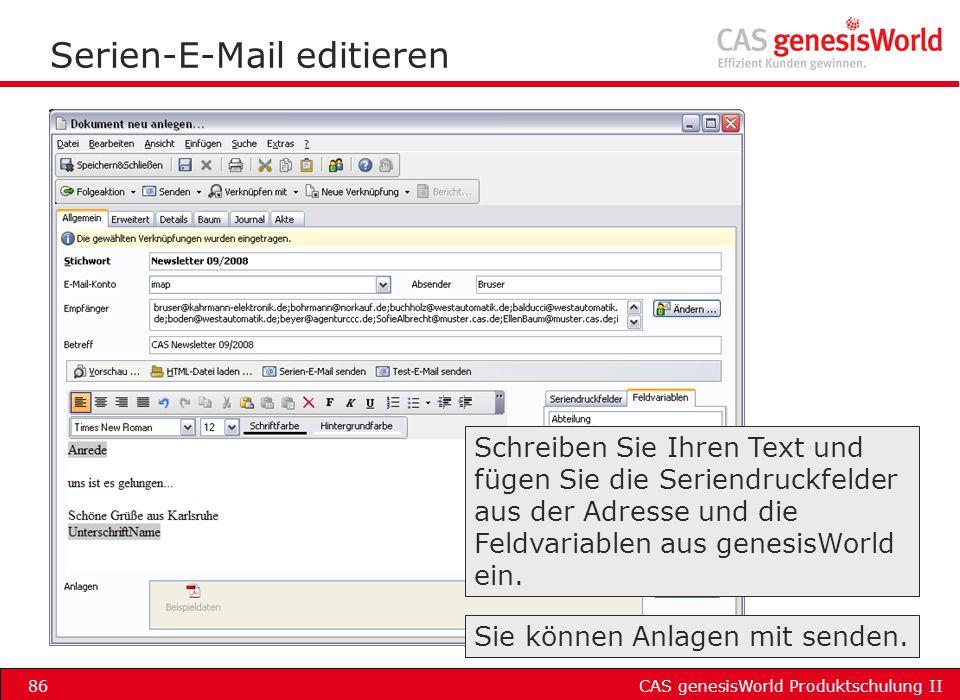 Serien-E-Mail editieren
