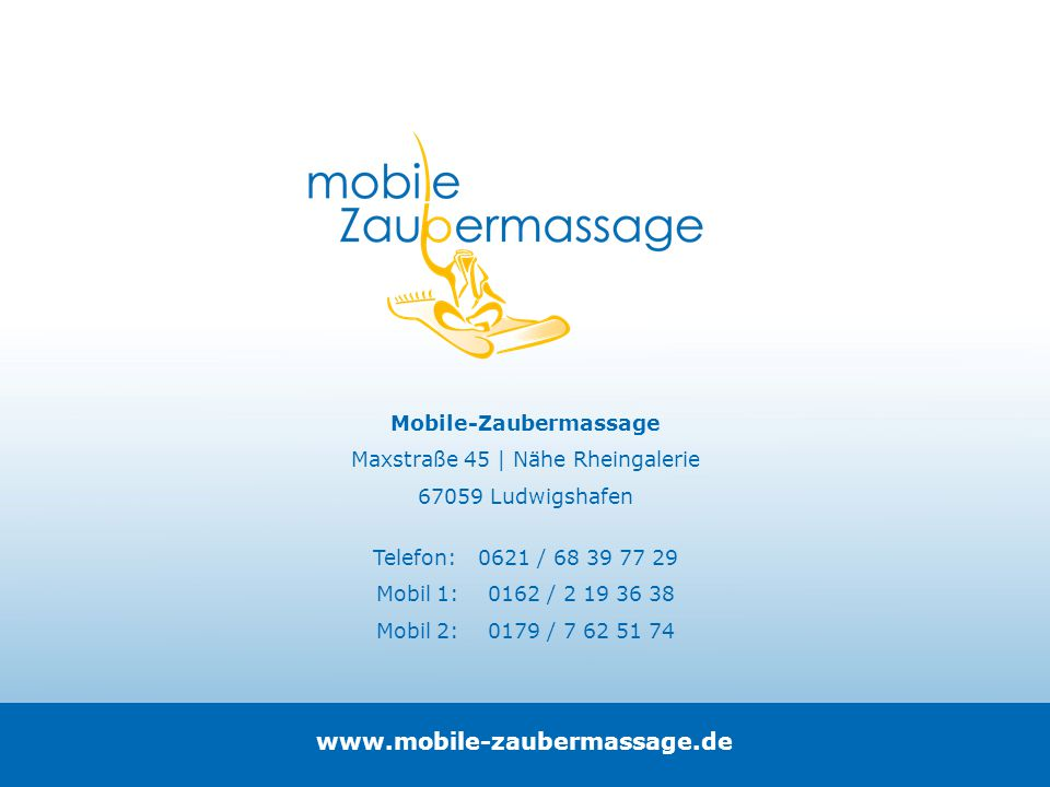 www.mobile-zaubermassage.de Mobile-Zaubermassage