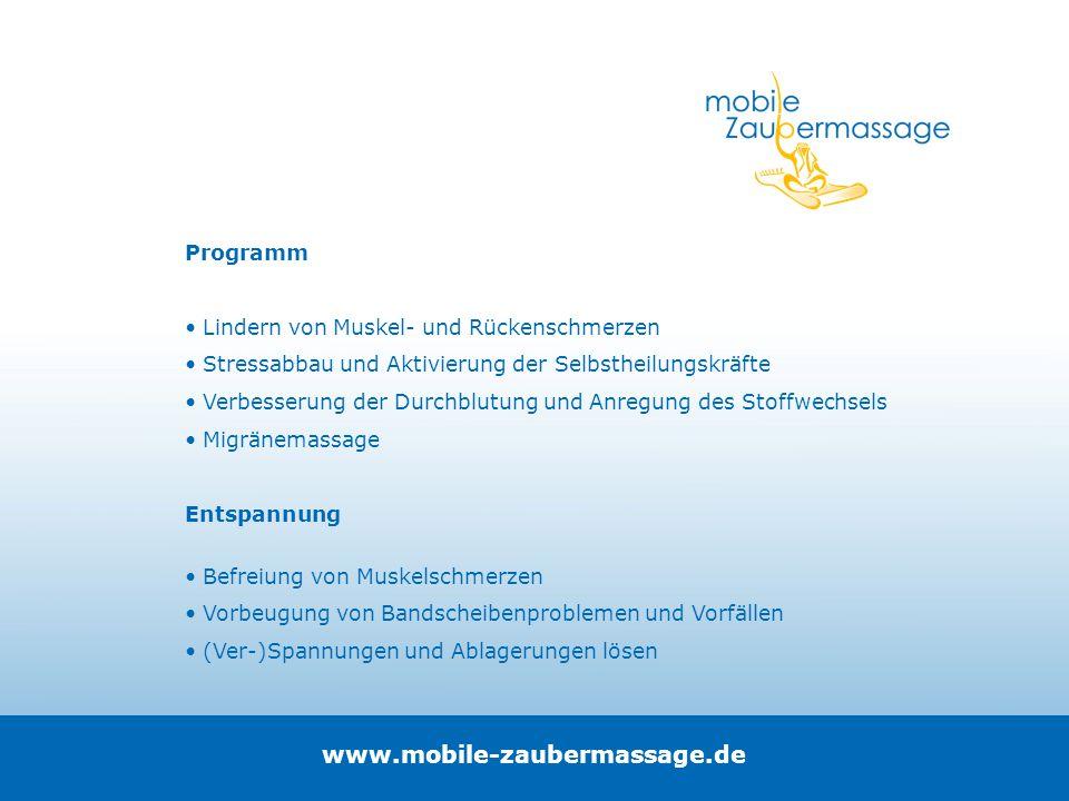 www.mobile-zaubermassage.de Programm