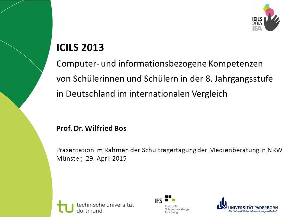 ICILS 2013 Computer- und informationsbezogene Kompetenzen von Schülerinnen und Schülern in der 8. Jahrgangsstufe in Deutschland im internationalen Vergleich
