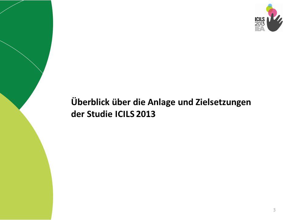 Überblick über die Anlage und Zielsetzungen der Studie ICILS 2013
