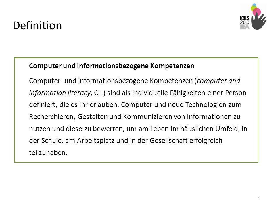 Definition Computer und informationsbezogene Kompetenzen