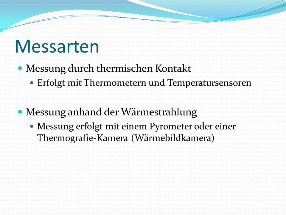 Messarten Messung durch thermischen Kontakt