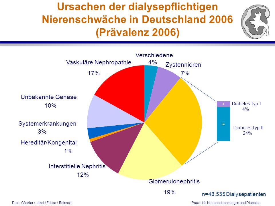 Ursachen der dialysepflichtigen Nierenschwäche in Deutschland 2006 (Prävalenz 2006)