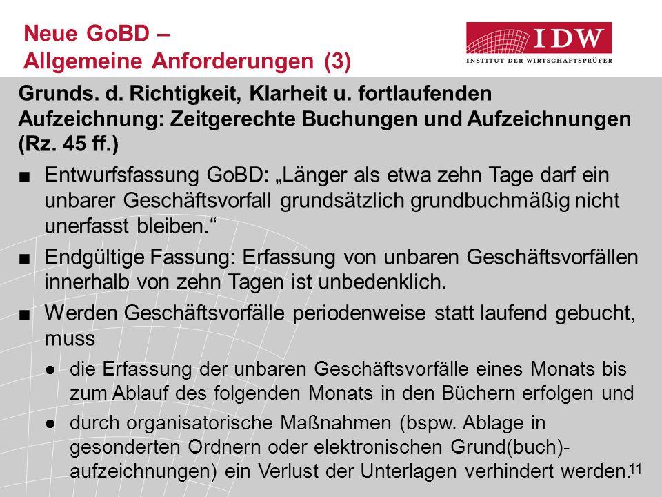 Neue GoBD – Allgemeine Anforderungen (3)