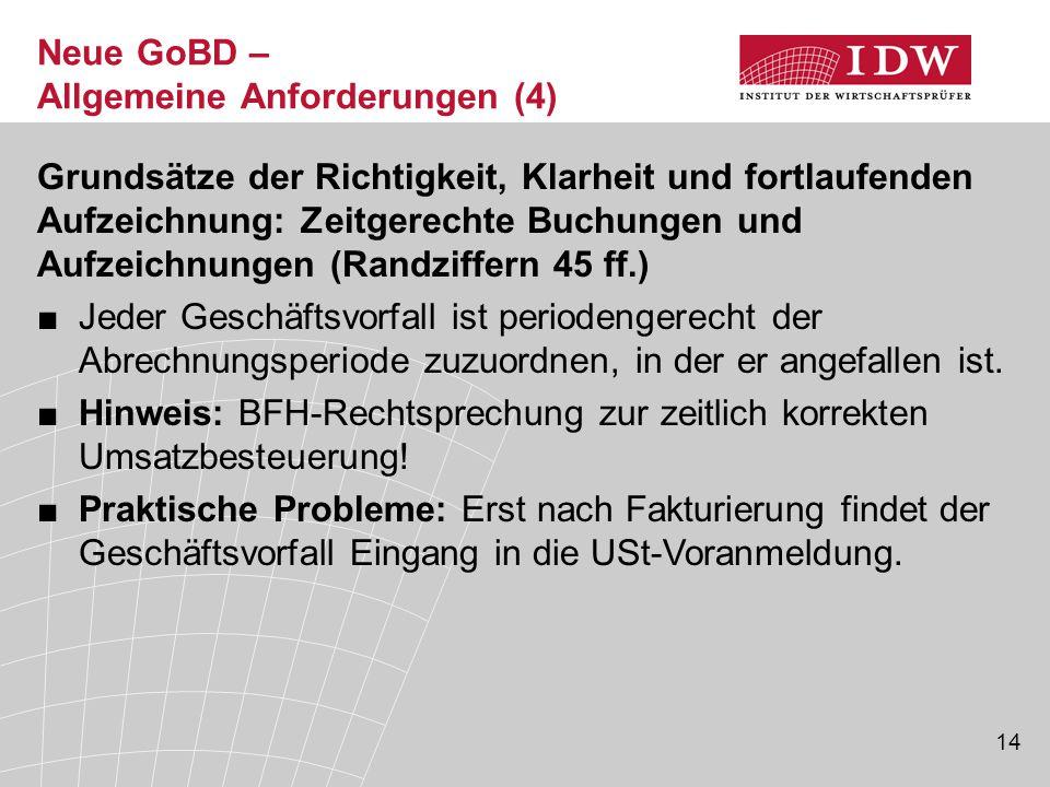 Neue GoBD – Allgemeine Anforderungen (4)