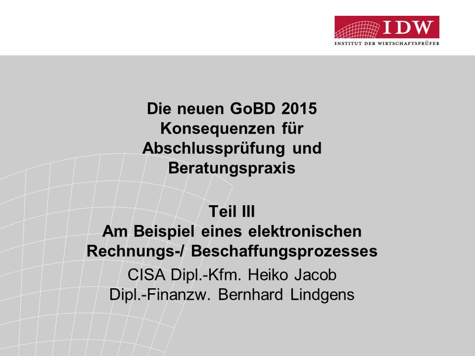 CISA Dipl.-Kfm. Heiko Jacob Dipl.-Finanzw. Bernhard Lindgens