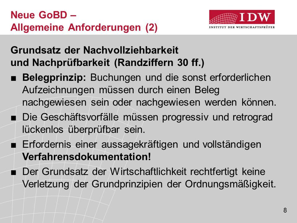 Neue GoBD – Allgemeine Anforderungen (2)