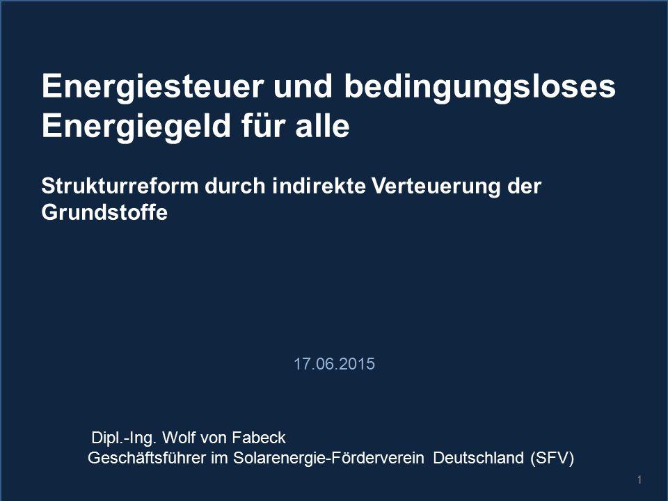 Geschäftsführer im Solarenergie-Förderverein Deutschland (SFV)