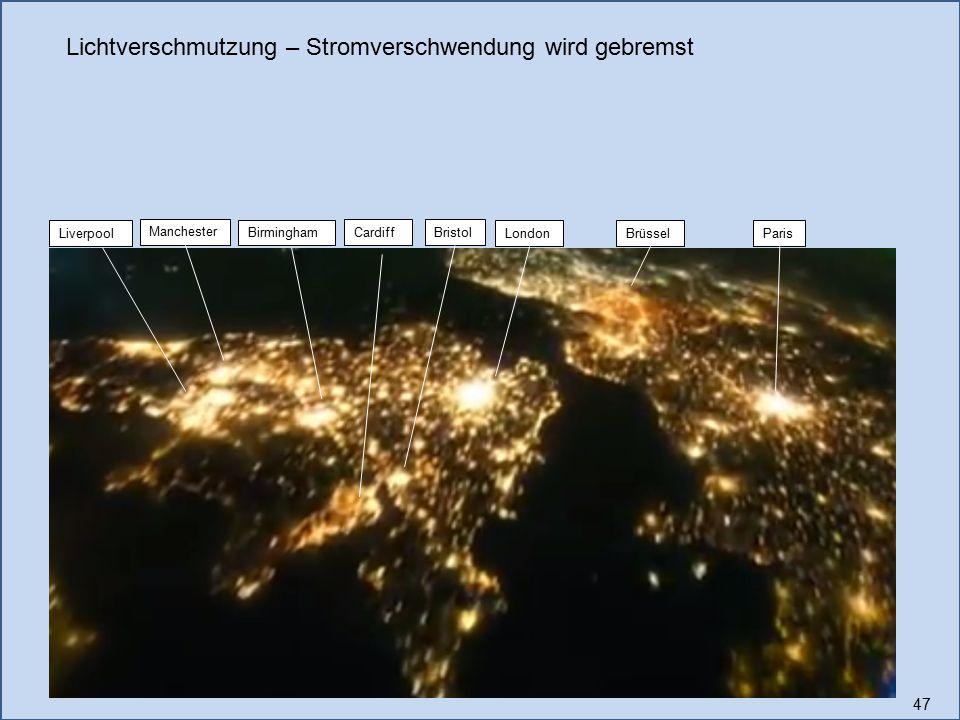Lichtverschmutzung – Stromverschwendung wird gebremst
