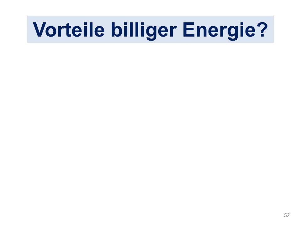 Vorteile billiger Energie