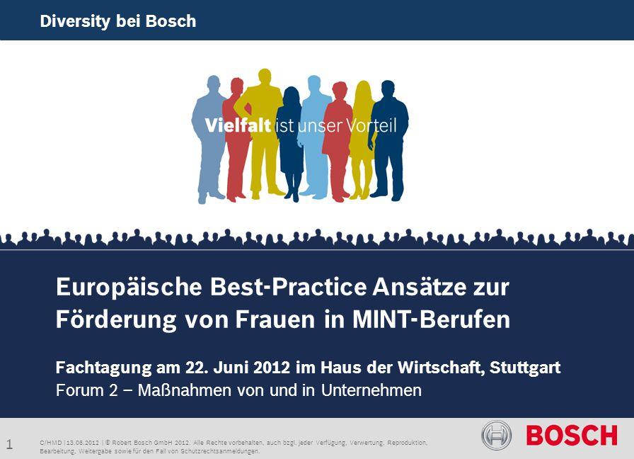 Diversity bei Bosch Europäische Best-Practice Ansätze zur Förderung von Frauen in MINT-Berufen.