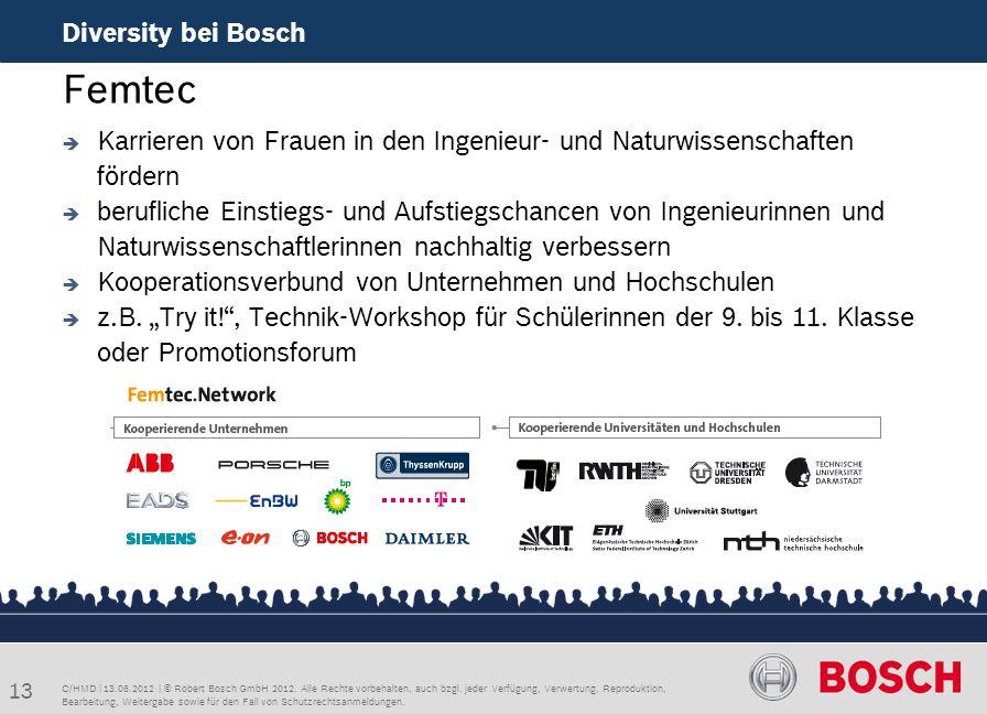 Femtec Diversity bei Bosch