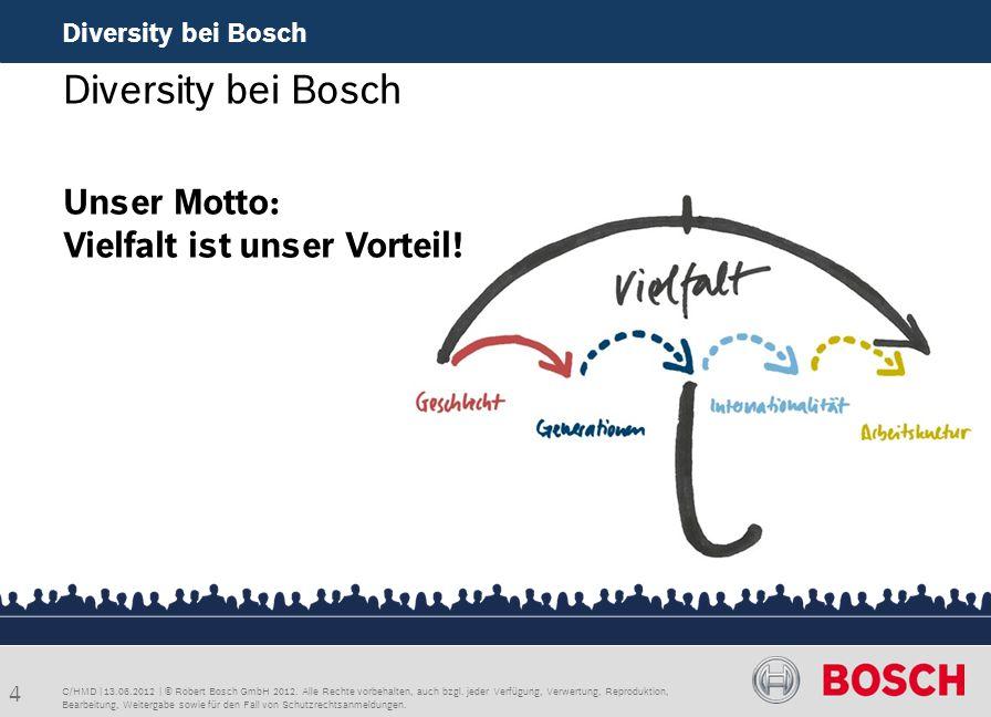 Diversity bei Bosch Unser Motto: Vielfalt ist unser Vorteil!