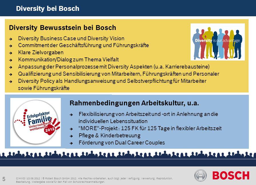 Diversity Bewusstsein bei Bosch