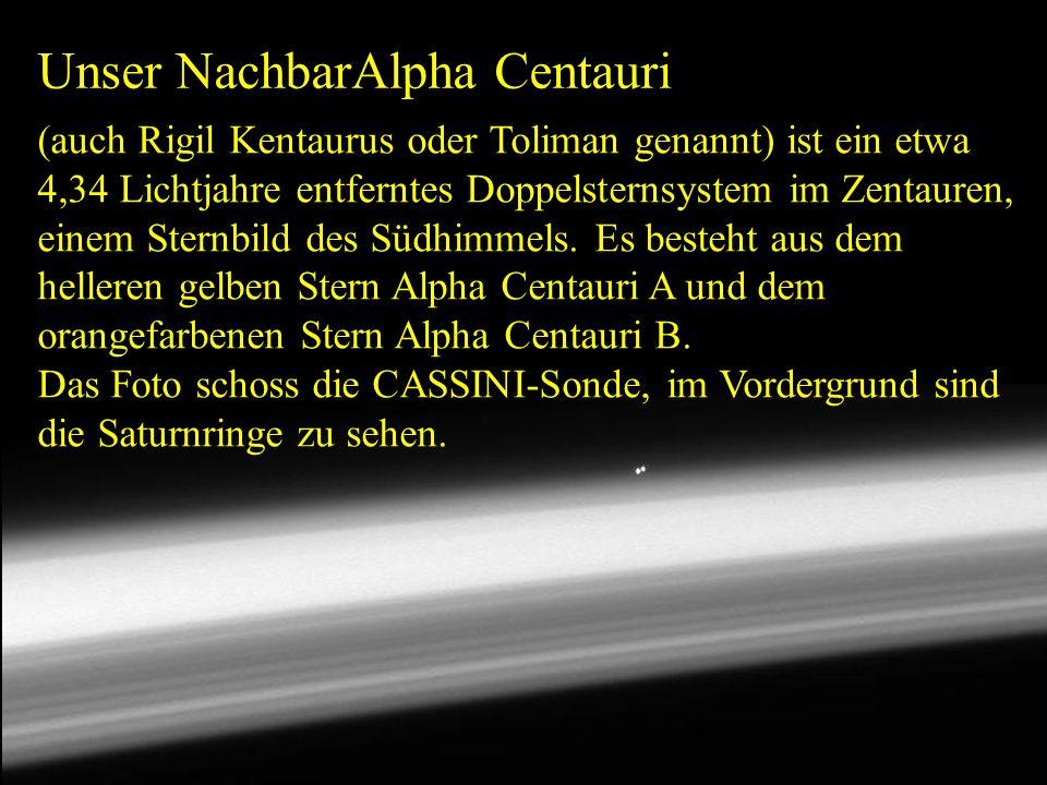 Unser NachbarAlpha Centauri