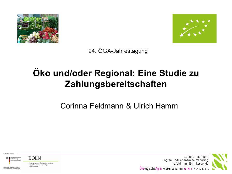 """Projekt-Nr. 2812OE028: """"Zielkonflikt beim Lebensmitteleinkauf: Konventionell regional, ökologisch regional oder ökologisch aus entfernteren Regionen"""