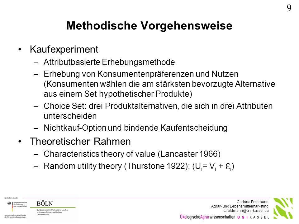 RPL-Model (Beispiel für Mehl)