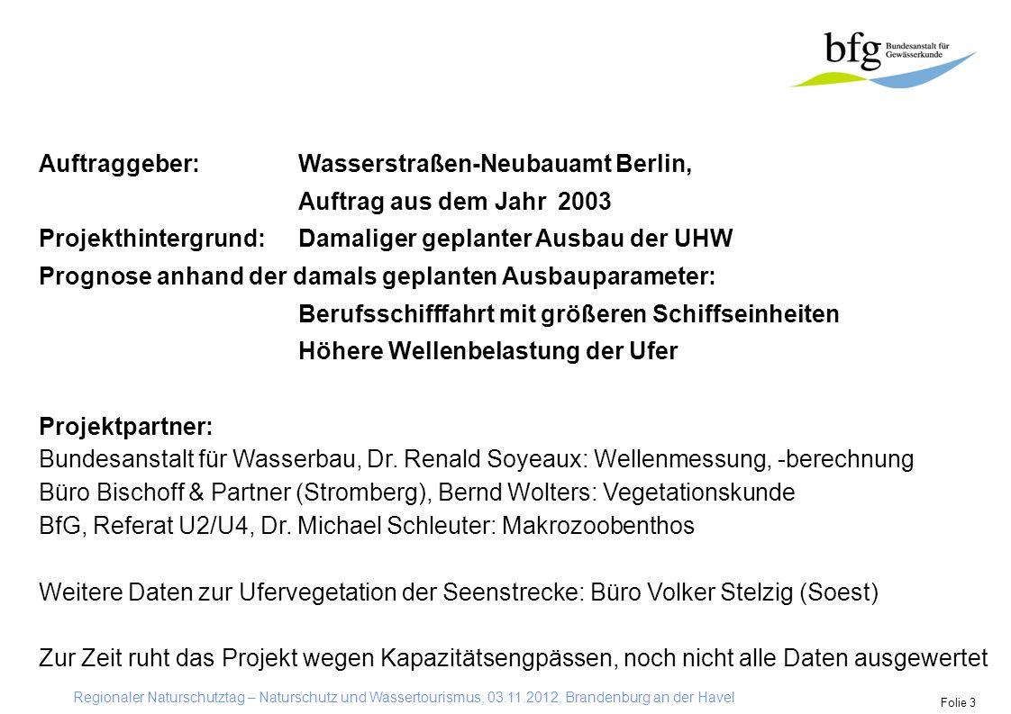 Büro Bischoff & Partner (Stromberg), Bernd Wolters: Vegetationskunde