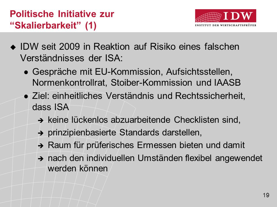 Politische Initiative zur Skalierbarkeit (1)