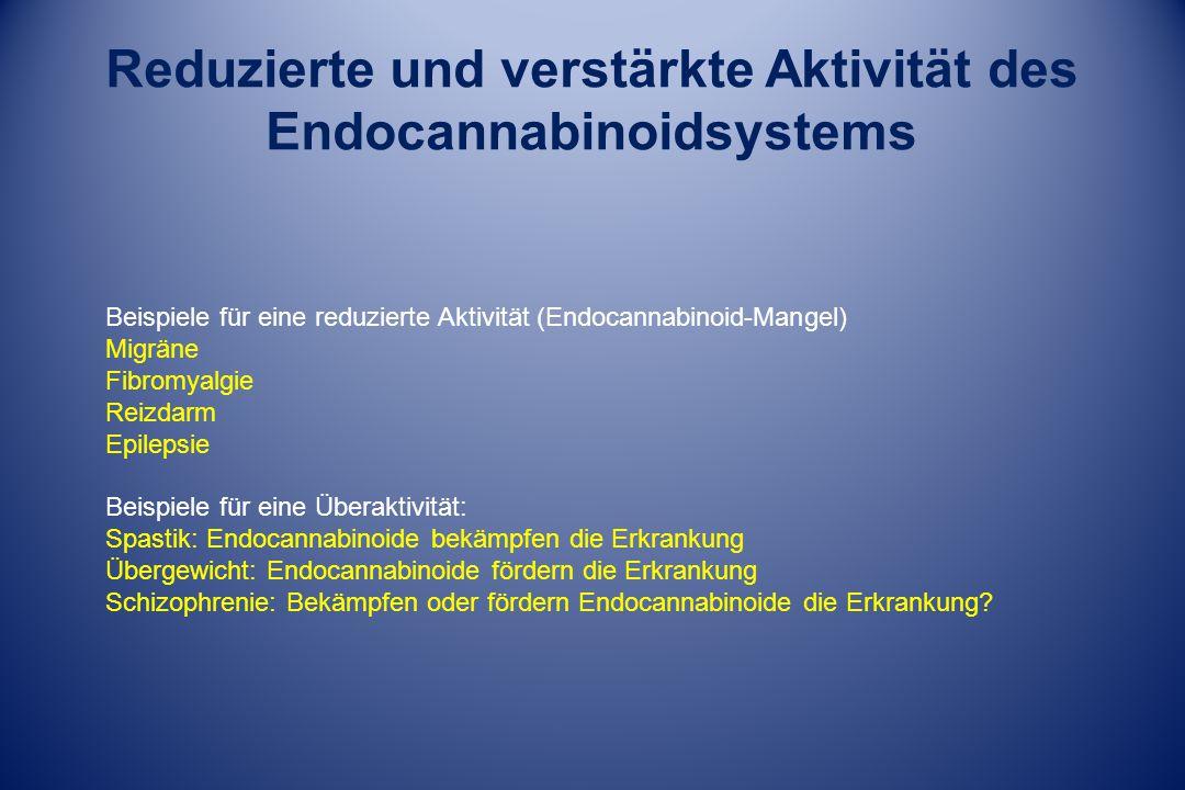 Reduzierte und verstärkte Aktivität des Endocannabinoidsystems