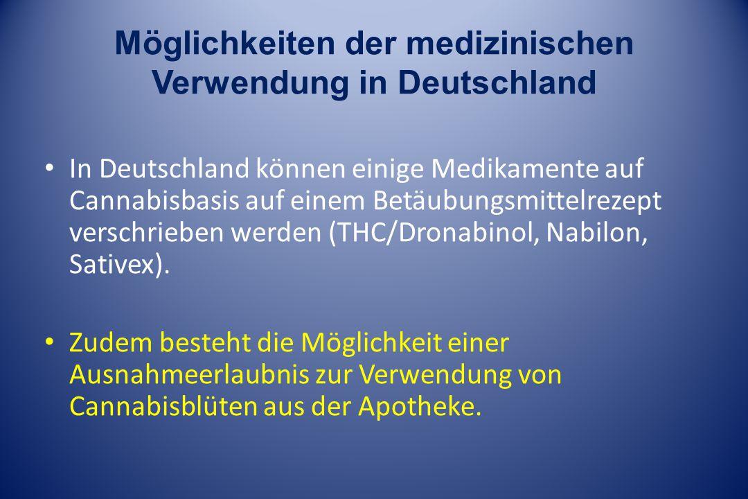 Möglichkeiten der medizinischen Verwendung in Deutschland