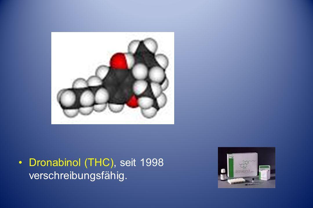 Dronabinol (THC), seit 1998 verschreibungsfähig.