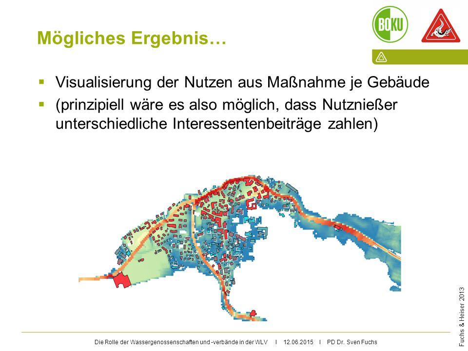 Mögliches Ergebnis… Visualisierung der Nutzen aus Maßnahme je Gebäude