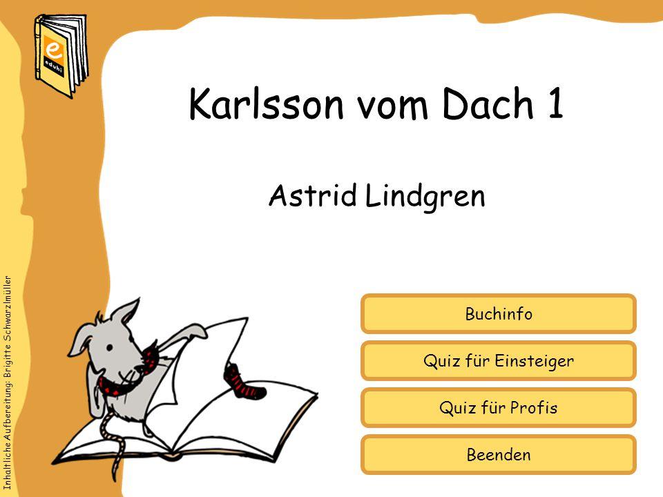 Karlsson vom Dach 1 Astrid Lindgren Buchinfo Quiz für Einsteiger