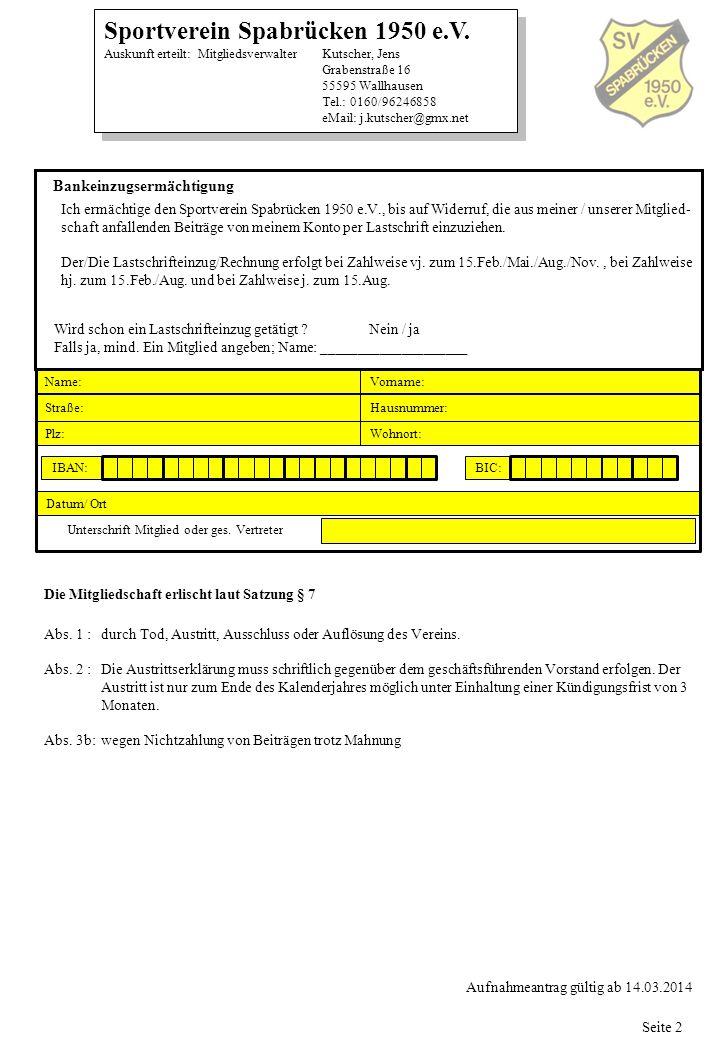 Unterschrift Mitglied oder ges. Vertreter