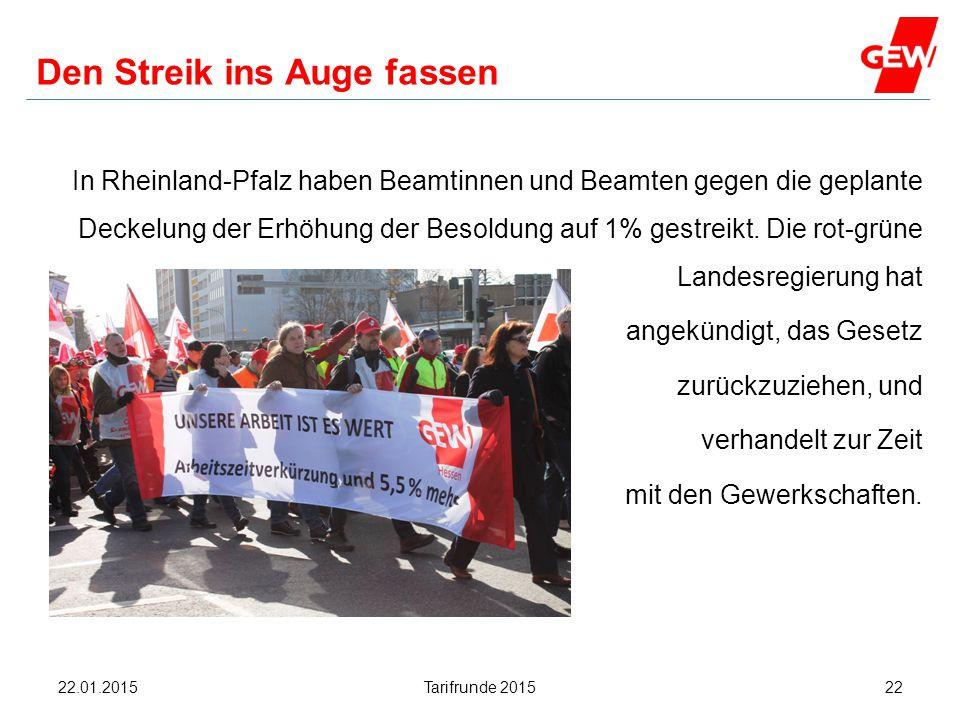 Den Streik ins Auge fassen