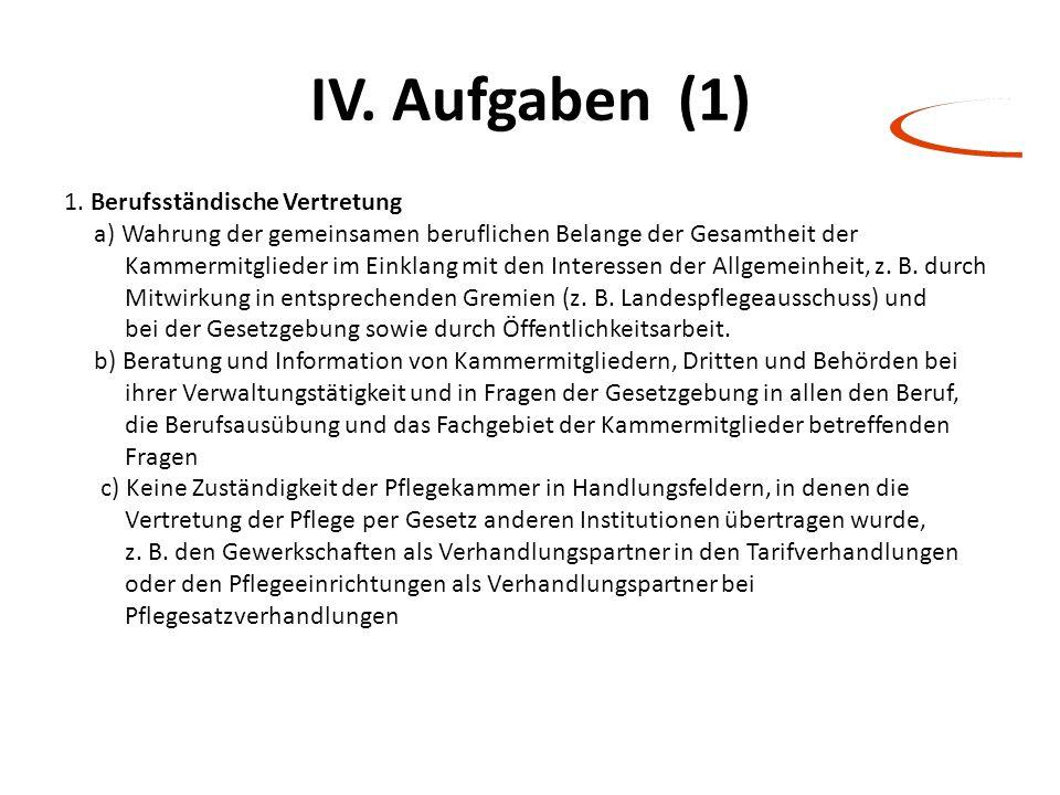 IV. Aufgaben (1)