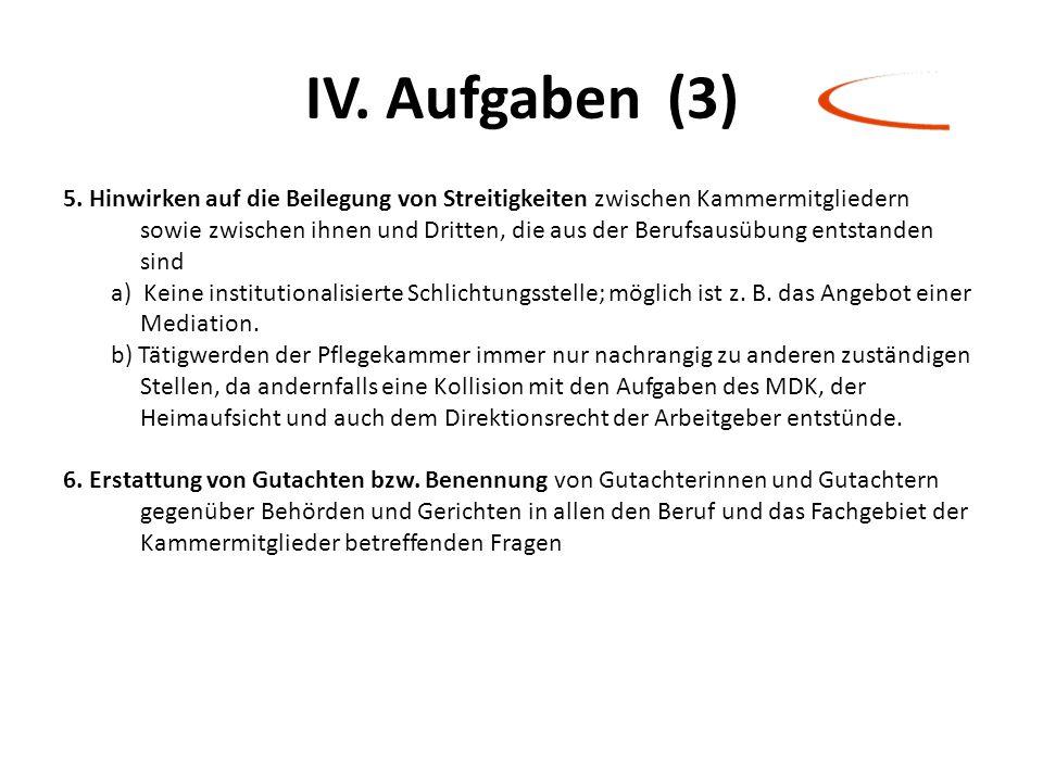 IV. Aufgaben (3)