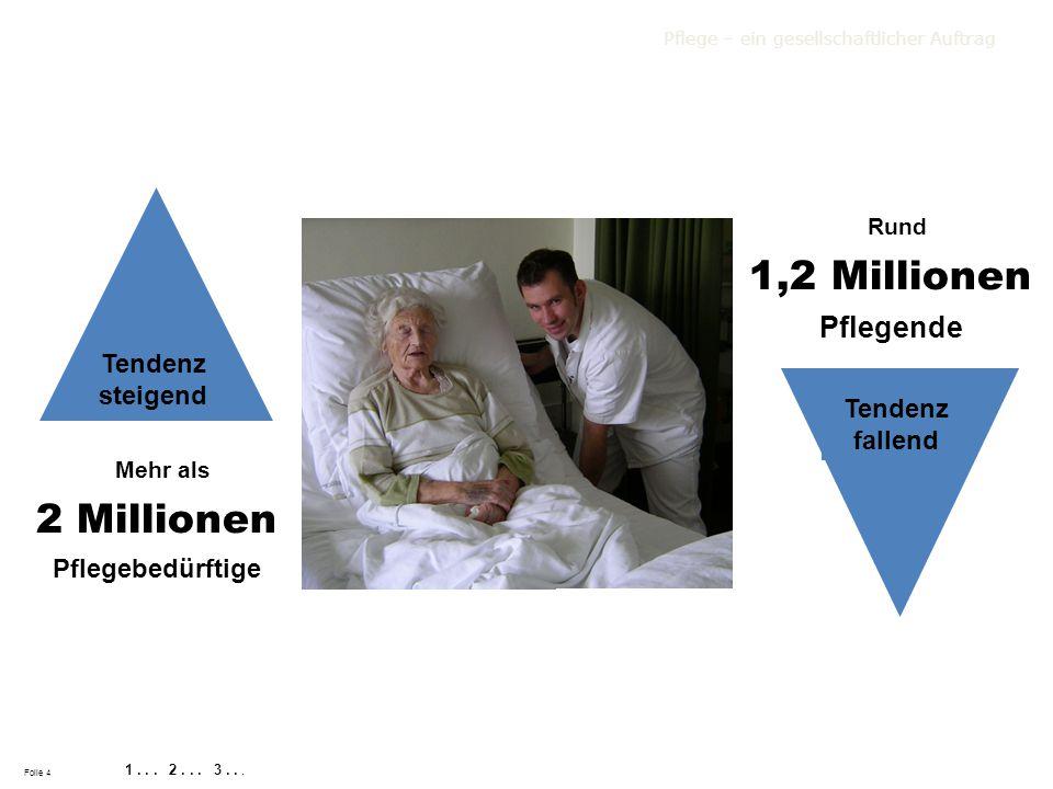 2 Millionen Pflegebedürftige