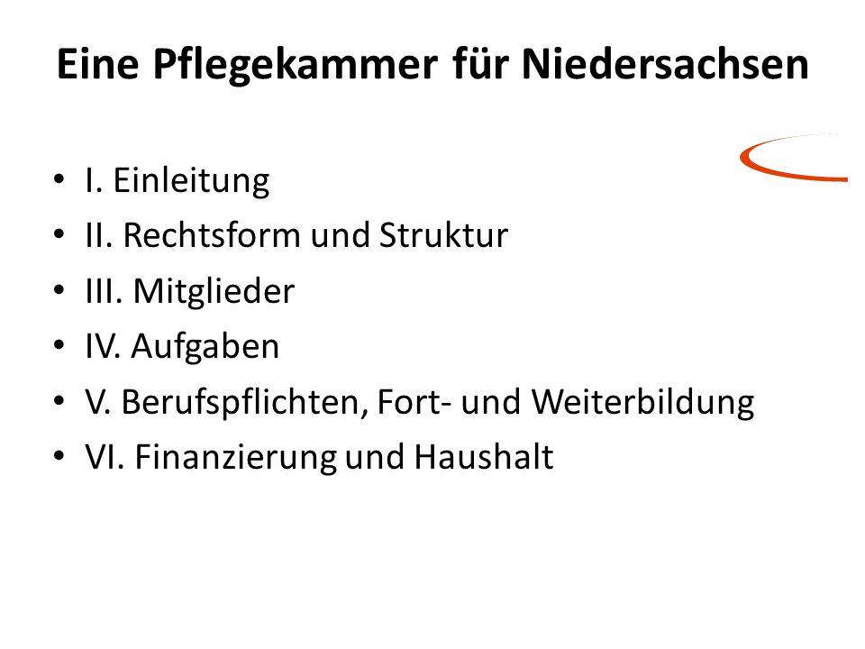Eine Pflegekammer für Niedersachsen