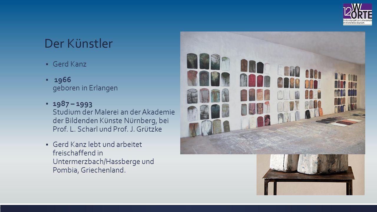 Der Künstler Gerd Kanz 1966 geboren in Erlangen