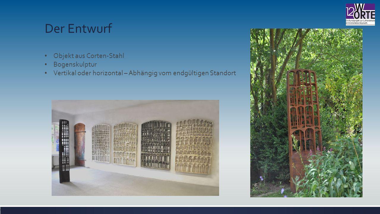 Der Entwurf Objekt aus Corten-Stahl Bogenskulptur
