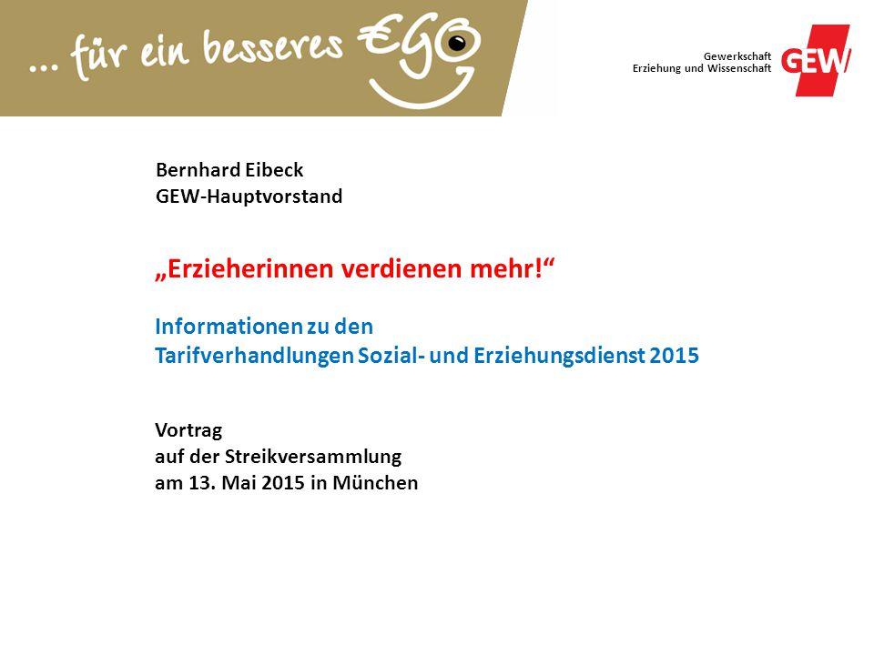 Bernhard Eibeck GEW-Hauptvorstand