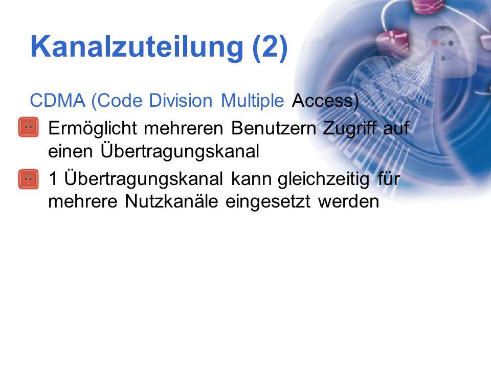 Kanalzuteilung (2) CDMA (Code Division Multiple Access)
