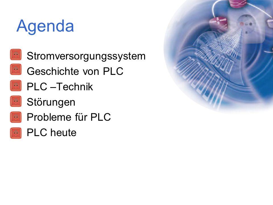 Agenda Stromversorgungssystem Geschichte von PLC PLC –Technik