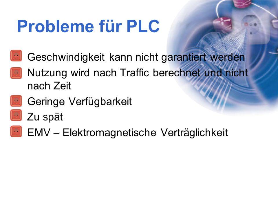Probleme für PLC Geschwindigkeit kann nicht garantiert werden