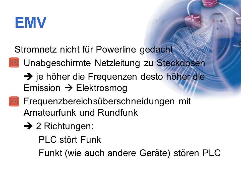 EMV Stromnetz nicht für Powerline gedacht