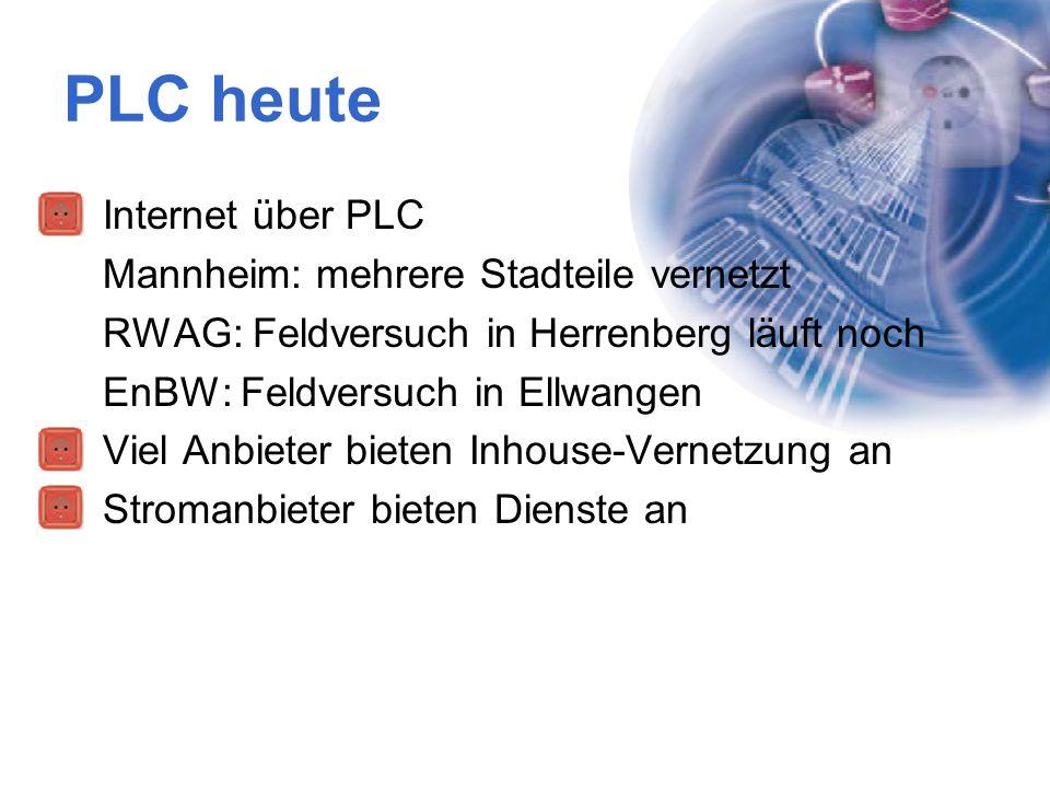 PLC heute Internet über PLC Mannheim: mehrere Stadteile vernetzt