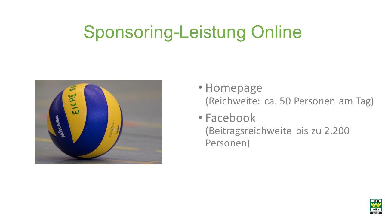 Sponsoring-Leistung Online