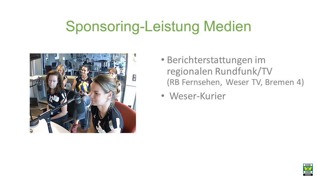 Sponsoring-Leistung Medien