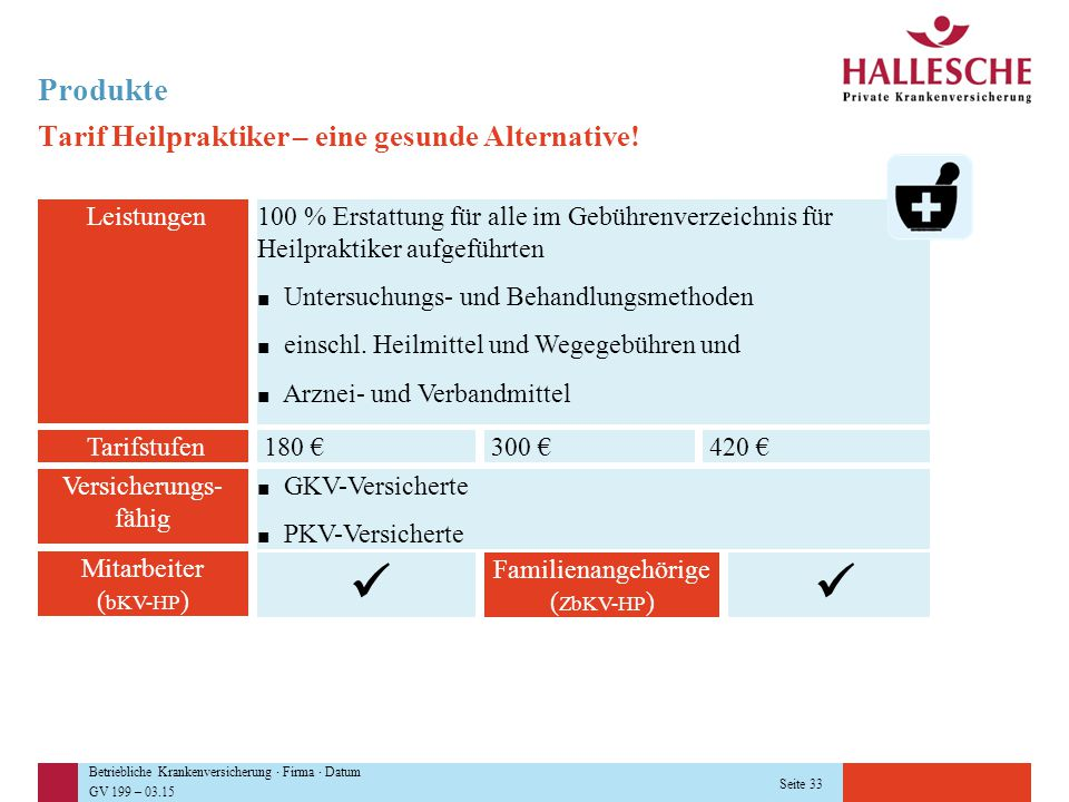   Produkte Tarif Heilpraktiker – eine gesunde Alternative!